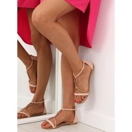 Sandałki damskie różowe 117-6 pink 1