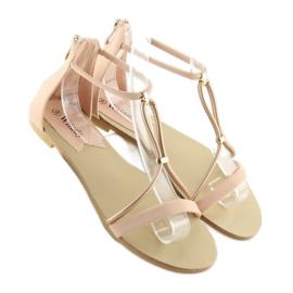 Sandałki damskie różowe 117-6 pink 4