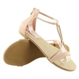 Sandałki damskie różowe 117-6 pink 2