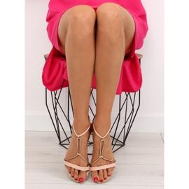 Sandałki damskie różowe 117-6 pink 3