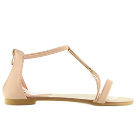 Sandałki damskie różowe 117-6 pink 5