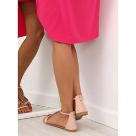 Sandałki damskie różowe 117-6 pink 6