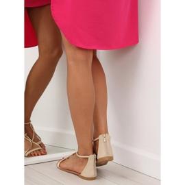 Sandałki damskie beżowe 117-6 beige beżowy 6