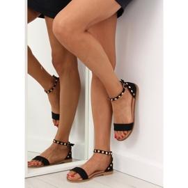 Sandałki z ćwiekami czarne 117-11 black 3