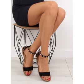 Sandałki z ćwiekami czarne 117-11 black 4
