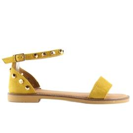 Sandałki z ćwiekami żółte 117-11 Yellow 5