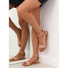 Sandałki z ćwiekami różowe 117-11 pink 4