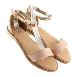 Sandałki z ćwiekami różowe 117-11 pink 3