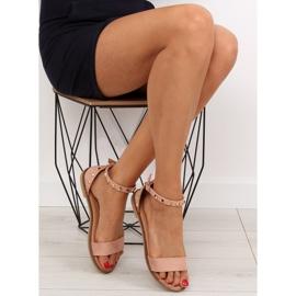 Sandałki z ćwiekami różowe 117-11 pink 5