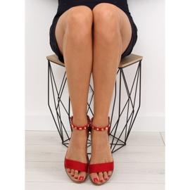 Sandałki z ćwiekami czerwone 117-11 Red 1