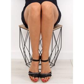 Sandałki damskie czarne 620-29 black 5