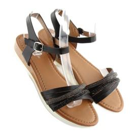 Sandałki damskie czarne 620-29 black 3