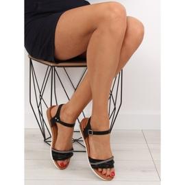 Sandałki damskie czarne 620-29 black 1