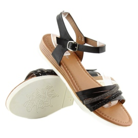 Sandałki damskie czarne 620-29 black 2