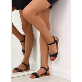 Sandałki damskie czarne 620-29 black 4
