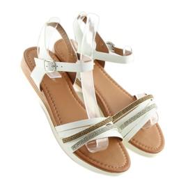Sandałki damskie białe 620-29 white 3