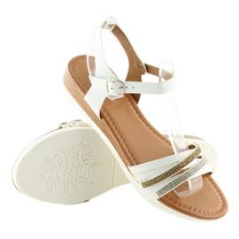 Sandałki damskie białe 620-29 white 2