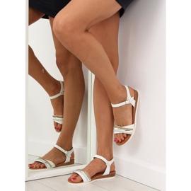 Sandałki damskie białe 620-29 white 4
