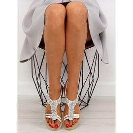 Sandałki damskie bardzo wygodne białe 981 2