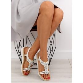 Sandałki damskie bardzo wygodne białe 981 5