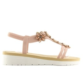 Sandałki damskie wygodne różowe 981 pink 4