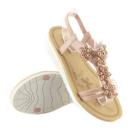 Sandałki damskie wygodne różowe 981 pink 6