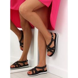 Sandałki damskie bardzo wygodne czarne 1499 Black 2