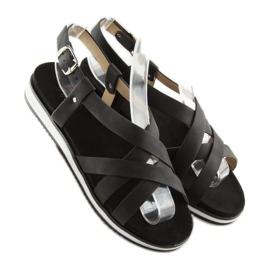 Sandałki damskie bardzo wygodne czarne 1499 Black 5