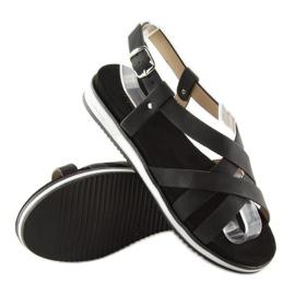 Sandałki damskie bardzo wygodne czarne 1499 Black 1