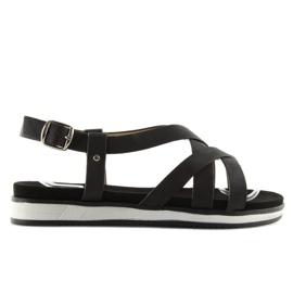Sandałki damskie bardzo wygodne czarne 1499 Black 3