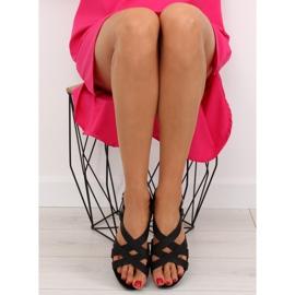 Sandałki damskie bardzo wygodne czarne 1499 Black 4