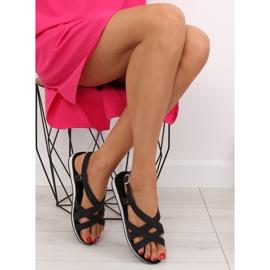 Sandałki damskie bardzo wygodne czarne 1499 Black 6