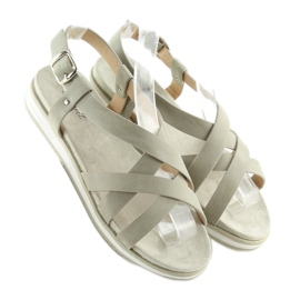 Sandałki damskie bardzo wygodne szare 1499 Grey 5