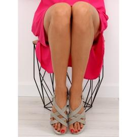 Sandałki damskie bardzo wygodne szare 1499 Grey 4