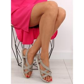 Sandałki damskie bardzo wygodne szare 1499 Grey 6