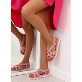 Sandałki damskie bardzo wygodne różowe 1499-20 Pink 1