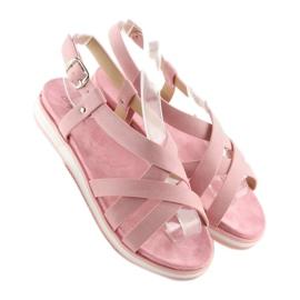 Sandałki damskie bardzo wygodne różowe 1499-20 Pink 5
