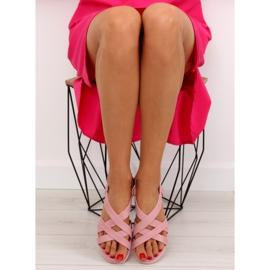 Sandałki damskie bardzo wygodne różowe 1499-20 Pink 4
