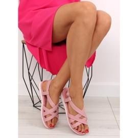 Sandałki damskie bardzo wygodne różowe 1499-20 Pink 6