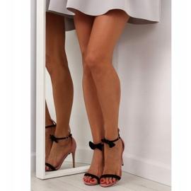Sandałki na szpilce z uszkami ZJ-15P Pink różowe 5