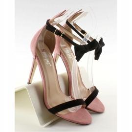Sandałki na szpilce z uszkami ZJ-15P Pink różowe 6