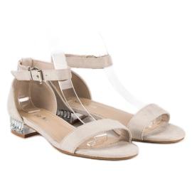 Nio Nio Eleganckie zamszowe sandały brązowe 1