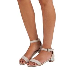 Nio Nio Eleganckie zamszowe sandały brązowe 2