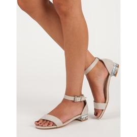 Nio Nio Eleganckie zamszowe sandały brązowe 3