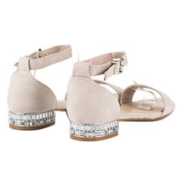 Nio Nio Eleganckie zamszowe sandały brązowe 6