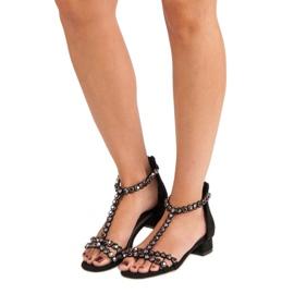Czarne sandały na suwak vices 2