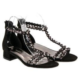 Czarne sandały na suwak vices 1