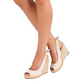 Beżowe sandały espadryle beżowy 3