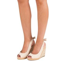 Beżowe sandały espadryle beżowy 2