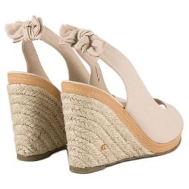 Beżowe sandały espadryle beżowy 5